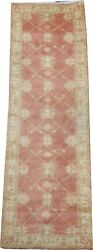 Rug Company Handmade Nepalese Wool Rug In Light Pink And Green 16 X 5 Ft