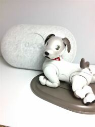Sony Aibo Ers-1000 Ivory White Accessories Set Good Condition Dog Used Japan
