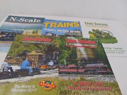 Train Magazine Lot 5 Live Steam N Scale Trains Outdoor Railroading Back Issues
