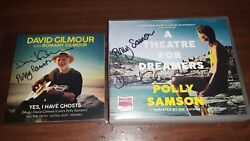 2 David Gilmour Signed Polly Samson Auto Audiobook And Yes,i Have Ghosts Both