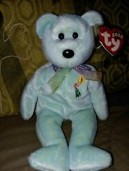 Donation Ariel's Flower Aids Fund Tags Bear Ty Beanie Baby Retired Rare Mint+