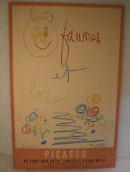 Pablo Picasso Faunes Et Flores Gallerie Poster Hand Signed 1960