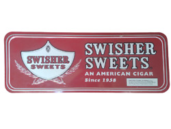 Swisher Sweets Embossed Metal Sign - An American Cigar Since 1958