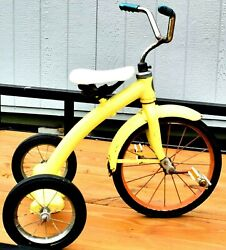 Antique Taylor Tricycle Of Cincinnati Ohio Child's Yellow Old Ride-on Pedal Toy