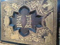 Vintage Rare Holy Bible 1879 With Abraham Family Tree