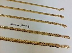 Authentic14ksolid Gold Miami Cuban Link Chain Necklace 2.5mm-6.5mm Size 16-30