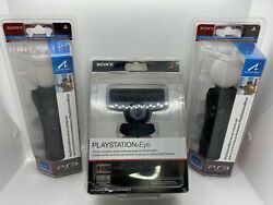 Sony Playstation Move Bundle Ps3 2 Motion Controllers W/ Ps Eye Camera Brand New