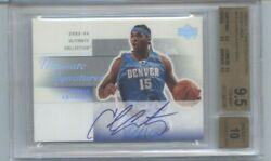 2003 Ultimate Collection Signatures Carmelo Anthony Rookie Auto Ca Bgs 9.5 Gem