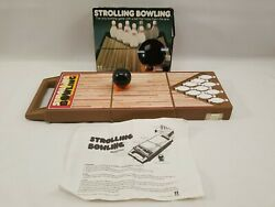 Vintage 80s Tomy Strolling Bowling Wind Up Toy Game In Box And Instruction Works