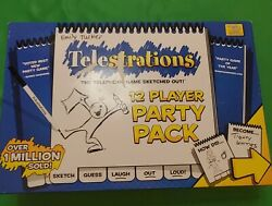Telestrations 12 Player Party Pack Usaopoly Telephone Game Sketched Out Complete