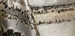 6 Yd Rare M1057 Electric Stripe Silver Black 114 Wide Drapery Upholstery Fabric