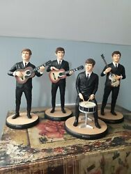 The Beatles Full Set Rare Figures Ornaments Statues Figurines Great Condition
