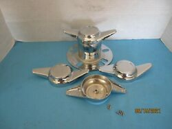 4  Bolt On/stud Mount Spinners 2 Bar To Instal On Derby Towers No Emblem