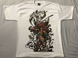 Mask And Disguise Mad_angela/spawn_t Shirt_uv Light_marvel Vintage New Sz Xl