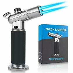 Kitchen Blow Torch,culinary Butane Torch Lighters Refillable Double Fire Cooking