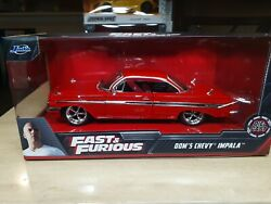 Fast And Furious Domand039s 1961 Chevy Impala Jada 124 Diecast Model Car New In Box