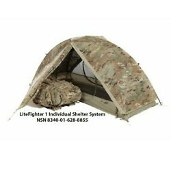 Litefighterandreg 1 Individual Shelter Army Ocp Camo Tactical Military Solo Tent Camp