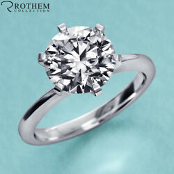 1.50 Ct Solitaire Diamond Engagement Ring White Gold I2 Msrp 9850 22851116
