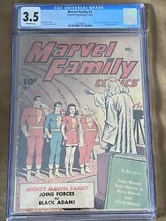 Marvel Family #1. First Black Adam CGC 3.5 w off white pages. HOT AND RARE