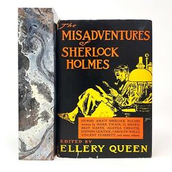 The Misadventures Of Sherlock Holmes Ellery Queen. Signed First Edition 1st.