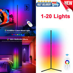 1-20pack Led Corner Floor Lamp Nordic Standing Rgb Color Chaging Remote Control