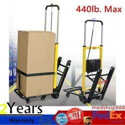 Electric Stair Climbing Hand Truck Moving Dolly Warehouse Utility Cart 440lb Max