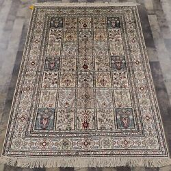 Yilong 4and039x6and039 Handknotted Silk Carpets Four Seasons Traditional Area Rug 465b