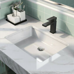 Deervalley 22 Undermount Bathroom Sink White Porcelain Rectangle With Overflaw