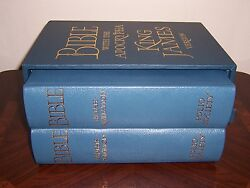 Folio Society Limited Numbered Bible With Apocrypha - King James Version 2 Vols