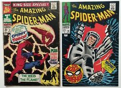 Amazing Spiderman Comic Lot Silver Age 58 King Size Special 4