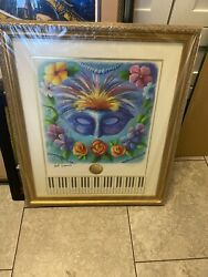 Fats Domino Mardi Gras Poster Jazz Fest Signed Extremely Rare 54 Of 450
