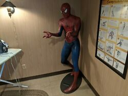 Blockbuster Limited Edition Life Size Marvel Spiderman Statue With Base