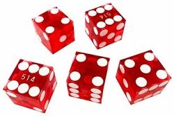 Authentic Nevada Casino Craps Dice Sticks With Matching Serial Numbers