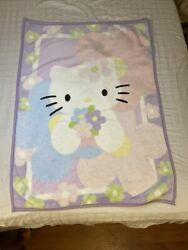 Lambs And Ivy Hello Kitty Pastel Baby Blanket Plush Fleece Lovey Security 2010