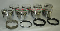Chevy 327 Sealed Power/speed Pro Cast Flat Top Pistons+moly Rings Set/kit +.040
