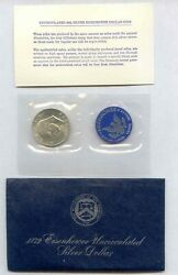 1972-s Eisenhower Dollar United States 40 Silver Uncirculated - Free Shipping