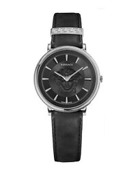Womens Stainless Steel Versace Watches V-circle Medusa Ve8102619