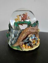 Retired Disney Lion King Collectible Musical Snow Globe Music Does Not Play