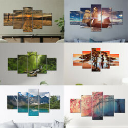 5pcs Set Landscape Canvas Painting Abstract Wall Art Pictures Posters Home Decor