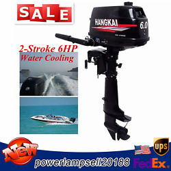 Hangkai 6 Hp 2stroke Outboard Motor Boat Marine Engine Water Cooling Cdi System