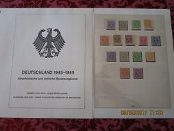 Germany 1945-1949 Us And British Zone Complete Mnh Collection With Lindner T Pages