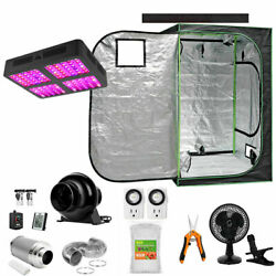 48x48x80 Grow Tent Starter Kit Combo W/ 2200w Led Light And Carbon Filter + Fan