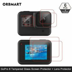 Tempered Glass Screen Protector For Gopro Hero 8 Black Lens Protection Protectiv