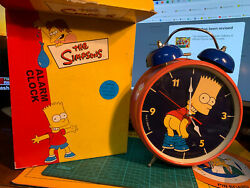 The Simpsons Bart Alarm Clock From Dsa 2000 In Box With Shelf Ware, Few Creases