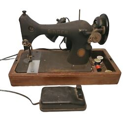100th Anniversary 1851-1951 Vintage Singer Portable Sewing Machine Wooden Case