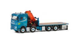 For Volvo Fh4 Sleeper Cab 8x2 Tag Axle Palfinger 7800.2 Truck 1/50 Diecast Model