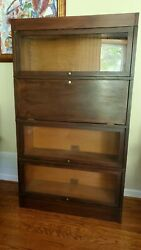 Antique Globe Wenicke Barrister Lawyerand039s Stacking Sectional Bookcase