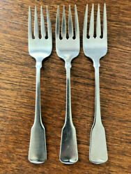 3 Oneida Heirloom Cube American Colonial Stainless Salad Forks