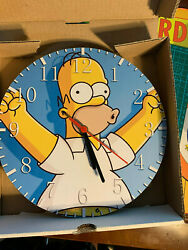 The Simpsons Borderless Unbranded Clock, Nondescript Box Almost 10 Round