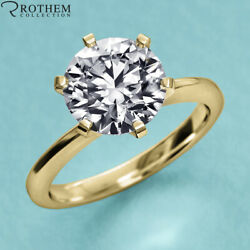 1.25 Ct Solitaire Diamond Engagement Ring Yellow Gold Si2 Msrp 9650 22951191